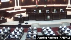 Azerbaijan -- Georgian president M.Saakashvili spoke in Azerbaijani parliament, Baku, 07Mar2012