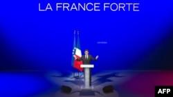 """Президент Франции на предвыбоном собрании своей партии """"Союз за народное движение"""""""
