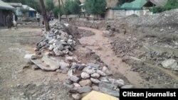 Последствия схода селевого потока в кишлаке Амондара