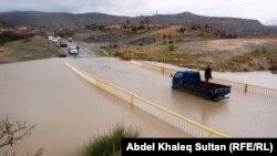 احد شوارع دهوك ايام الفيضان