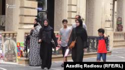 Bakıda ərəb turistləri.