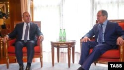 Сергій Лавров і Мевлют Чавушоглу у Сочі, 1 липня 2016 року