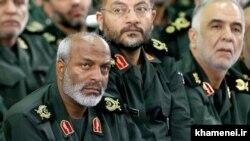 سرتیپ محمد مارانی (چپ) در دیدار فرماندهان سپاه با آیتالله خامنهای در شهریور ۹۴