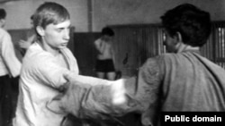 Володимир Путін на тренуванні з самбо