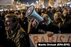 Протесты за отставку Андрея Бабиша