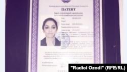 Нусхаи патенти андози Шабнами Сурайёро наздиконаш барои нашр ба Радиои Озодӣ доданд