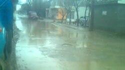 Sumqayıt məhəllələrindən biri yağışdan sonra