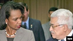 Кондолиза Райс с Махмудом Аббасом в Рамаллахе