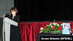 Milada Vojvodić na komemoraciji ocu