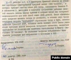 З документа КДБ і МВС УРСР 12 грудня 1988 року