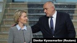 Председателката на Европейската комисия Урсула фон дер Лайен и премиерът Бойко Борисов. Снимката е архивна