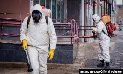 Дезінфекція в столиці Казахстану Нур-Султані