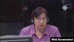 Mirsada Malagić svjedoči na suđenju Karadžiću, 24. siječanj 2012.