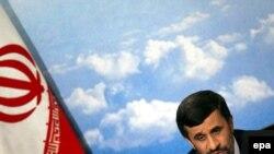 "Iranian President Mahmud Ahmadinejad: ""We shall build 10 new uranium enrichment plants."" (file photo)"