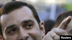 Ираклий Аласания во время предвыборной кампании, Тбилиси, 27 мая 2010 г.