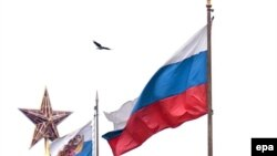 Russia - Russian State Flag (R) and the Standard of the President of Russian Federation