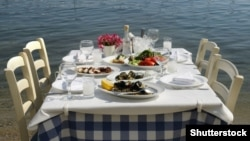 Shutterstock - Greek tavern sea food