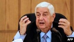 Сирияның сыртқы істер министрі Валид әл-Муалем.