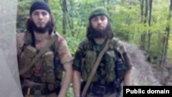 "A screen grab of purported rebels ""Saydi"" and ""Iskhak"" as shown in a video posted on the Kavkazcenter website."