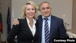 Lepa Brena (left) and Boyko Borisov in Sofia