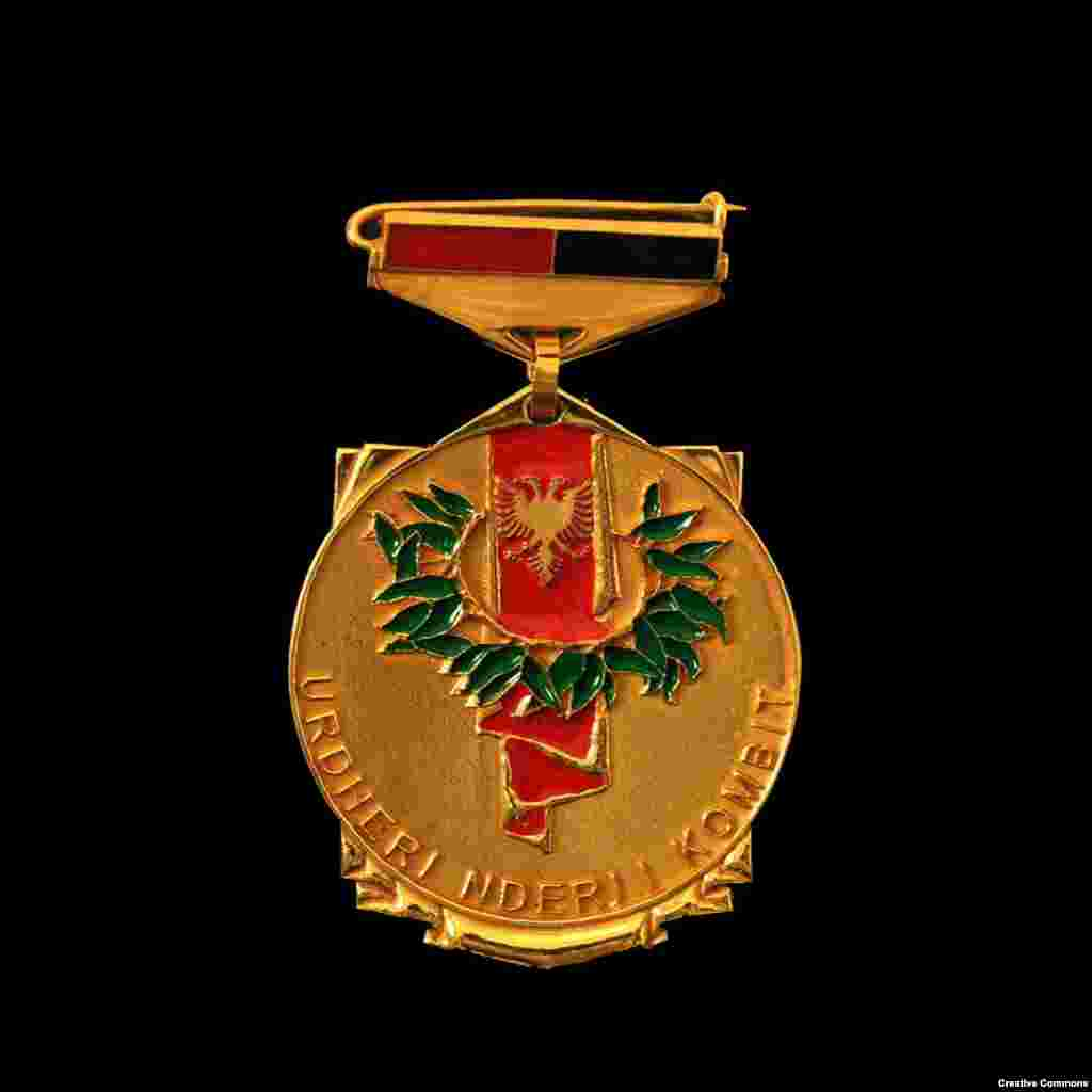 "Albania's Honor of the Nation   This medal is awarded by Albania's president to Albanians or foreign nationals ""as a token of gratitude and recognition for those who by their acts and good name contribute to honoring the Albanian nation."""