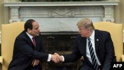 Müsüriň prezidenti Abdel-Fattah el-Sisi we Birleşen Ştatlaryň prezidenti Donald Tramp