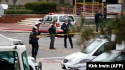 Полиция на месте атаки в университете Огайо, Колумбус, США, 28 ноября 2016 года.