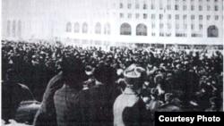 Выступление казахской молодежи против кадровой политики Кремля. Алматы, 17 декабря 1986 года.
