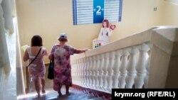 В коридоре Первой городской поликлиники Севастополя. Август 2018 года
