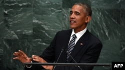 Барак Обама на трибуне Генеральной Ассамблеи ООН, 20 сентября 2016