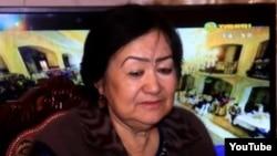 Матлуба Розиқова. Акс аз як навори телевизиони Танини шаҳри Хуҷанд