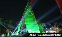 Ajunul Crăciunului la Ankawa, Arbil, Irak.