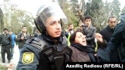 تظاهرات در باکو، شنبه ۷ بهمن (۲۶ ژانویه).