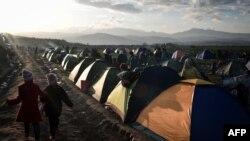 Izbeglički kamp u Idomeniju