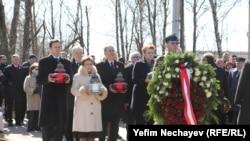 Траурная церемония в Смоленске, 10 апреля 2015