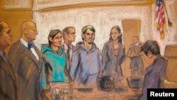 АКШда соттолгон өзбекстандыктардын элеси түшүрүлгөн сүрөт.