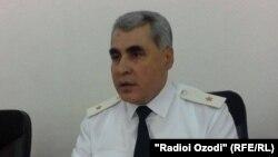 Начальник управления министерства внутренних дел в Согдийской области Таджикистана Шариф Назарзода.