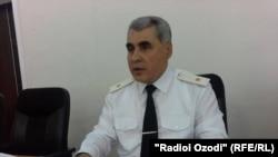 Шариф Назарзода, сардори раёсати умури дохила дар вилояти Суғд.