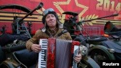 Репетиция представления на Красной площади. Москва, 5 ноября 2014 года.
