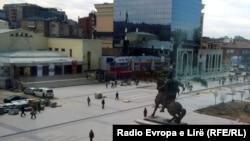 Pamje e një pjese të qendrës së Prishtinës