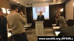 Муҳаммд Солеҳ дар нишасти хабарӣ дар Истанбулю 3-юми октябри 2017