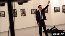 Первые секунды после убийства, 19 декабря 2016 года, Анкара