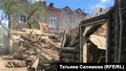 Снос исторического здания в центре Томска, 2018 год