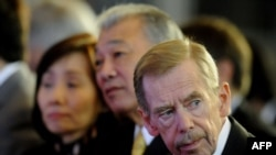 Former Czech President Vaclav Havel attends a conference in Prague in October 2011.