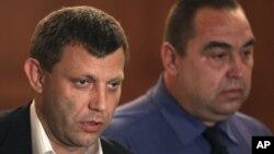 Колишні ватажки підтримуваних Росією угруповань «ДНР» та «ЛНР» Олександр Захарченко та Ігор Плотицький