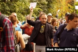 """Алексей Домников на """"Марше мира"""" в поддержку Украины"""