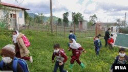 Iran -- Students of Mashand village in Astara. May 10, 2020