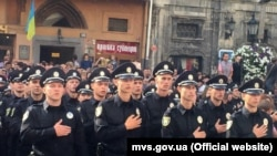 Новая полиция во Львове, 23 августа 2015 года