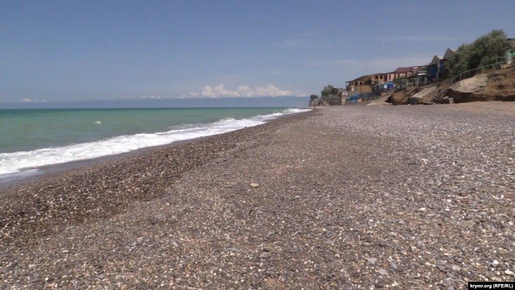 Пляж у миколаївці крым 5 червня 2014