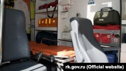 Обладнання реанімобіля опорного пункту «швидкої допомоги» в Форосі